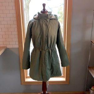 COPY - Gap women's XL army green hooded jacket